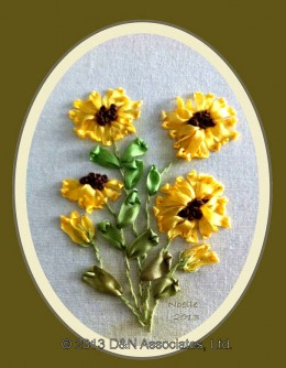 Sunflowers Silk Ribbon Embroidery Kit