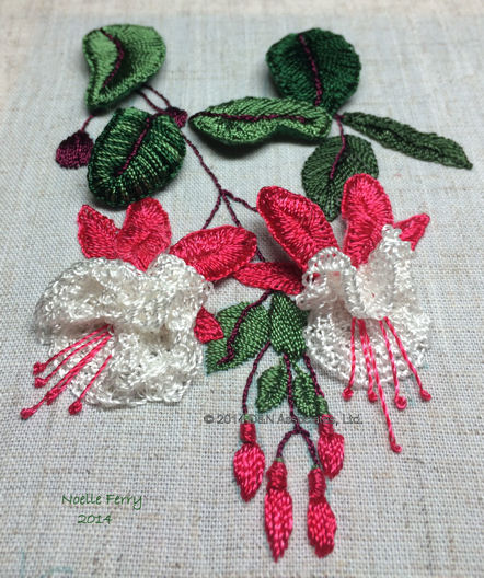 Fuchsia Stumpwork BE