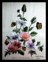 Floral panel, Hazel Blomkamp design