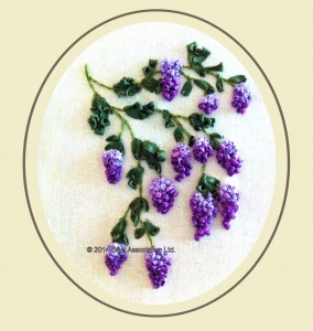 Wisteria Silk RIbbon Embroidery