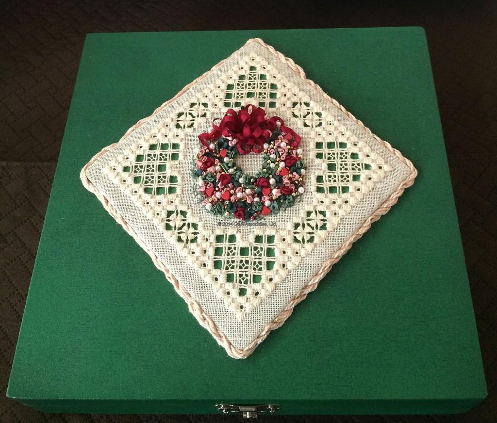 Christmas Wreath Box Lid