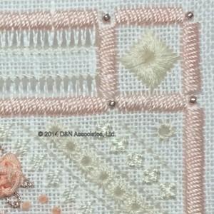 Rhodes stitch, Peaches and Cream
