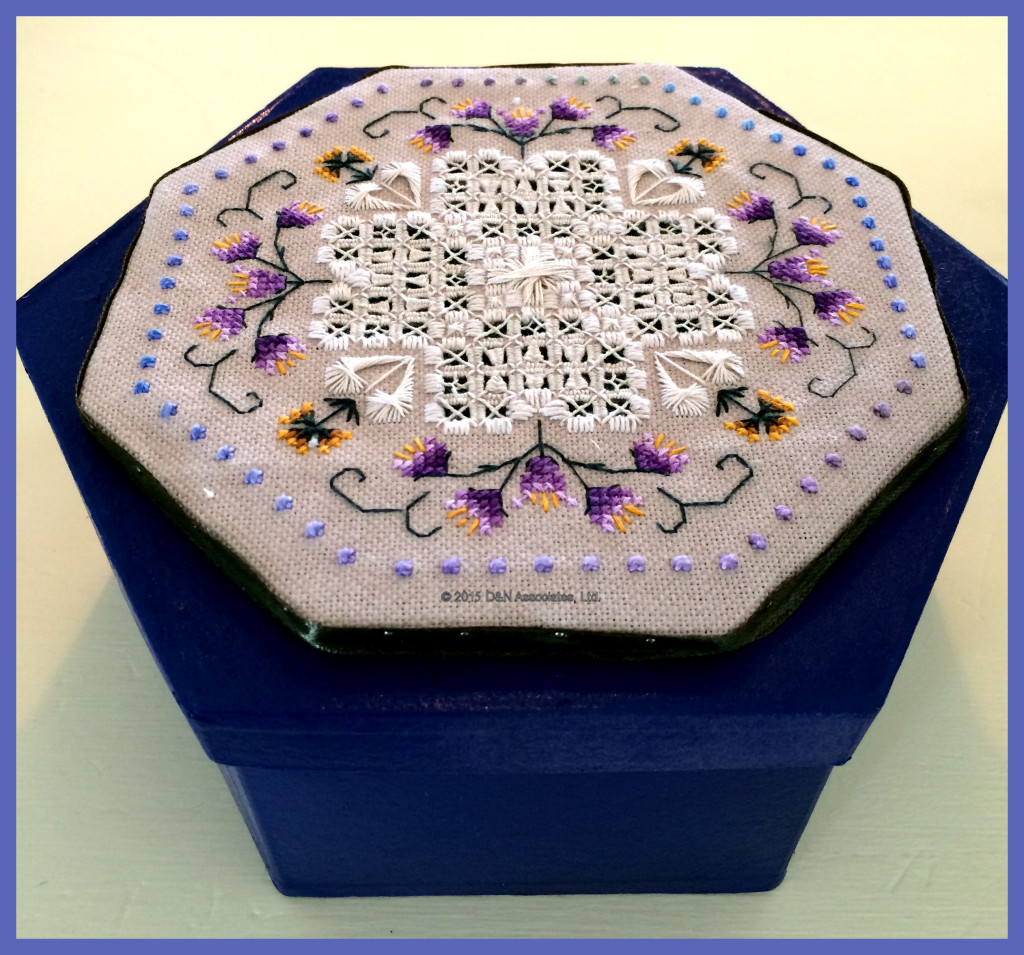 Thistle box, side view