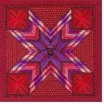 Red purple tile