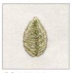 Stitch Satin  Leaf