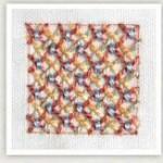 Stitch woven trellis couching