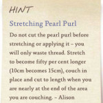 Stretching purl