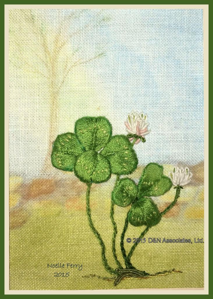Lucky four-leafed clover