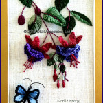 Fuschia with Butterfly
