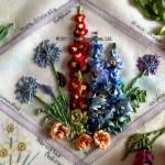 Agapanthus, Beetle Daisey, Delphinium, Hollyhock