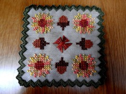 fall color doily