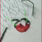 Creating curved stitching