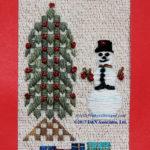 Snowman Decorating Holiday Tree