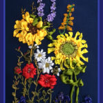 Wild Flowers, silk ribbon