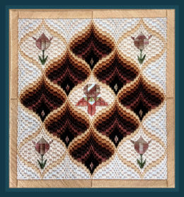 Tulips and Pomegranates, Bargello design