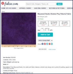 back and binding fabric