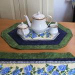 hydrangea tea doily