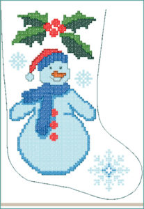 Royal design. Snowman, cross stitch 22k stitches