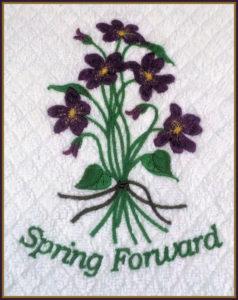 spring forward violets