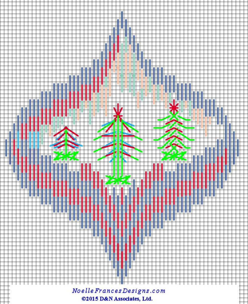 Northern Lights and Evergreen outside border with grid 002